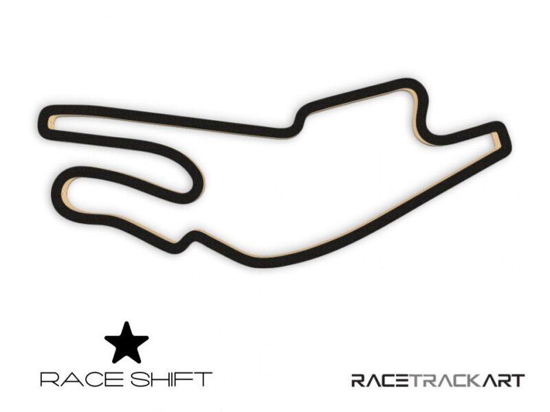 Race Shift Circuit Bugatti France 3D Track Art