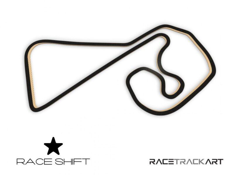 Race Shift Circuit Sachsenring Germany 3D Track Art
